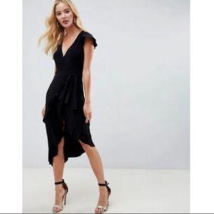 ASOS Asymmetrical Wrap Dress